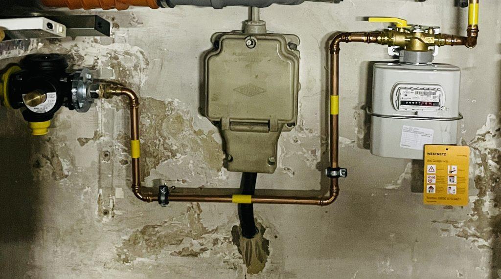 Sanitär Gasdichtheitsprüfung